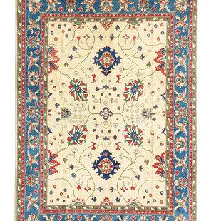 shal Hand knotted  11'8x 9' wool kazak area rug  360x275 cm  Oriental carpet