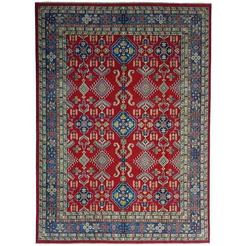 shal Hand knotted  11'9x 9' wool kazak area rug  363x275  cm  Oriental carpet