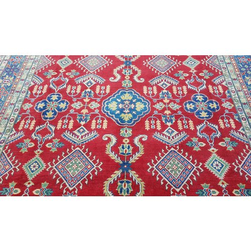 Handgeknoopt kazak tapijt 363x275 cm  oosters kleed vloerkleed