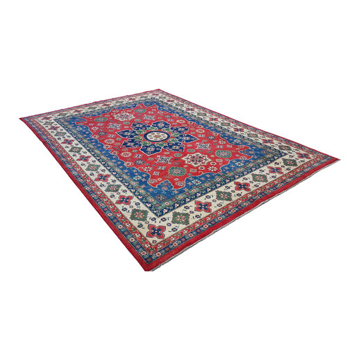 shal Hand knotted  12'x 8' wool kazak area rug  368x254 cm  Oriental carpet