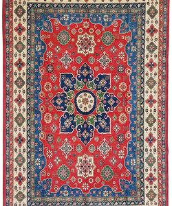Handgeknoopt kazak tapijt 368x254 cm  oosters kleed vloerkleed