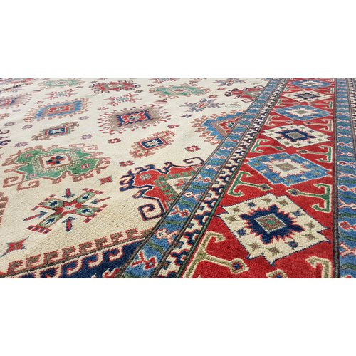 Handgeknoopt kazak tapijt 361x266 cm  oosters kleed vloerkleed