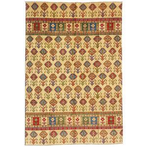 Handgeknoopt kazak tapijt 344x252 cm  oosters kleed vloerkleed