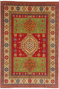 shal Hand knotted  12'x 9' wool kazak area rug  370x277 cm  Oriental carpet