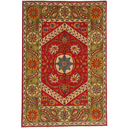 shal Hand knotted  11'x 8' wool kazak area rug  347x247 cm  Oriental carpet