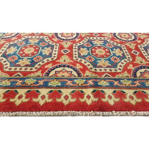 shal Hand knotted  11'4x 8' wool kazak area rug  349x254 cm  Oriental carpet