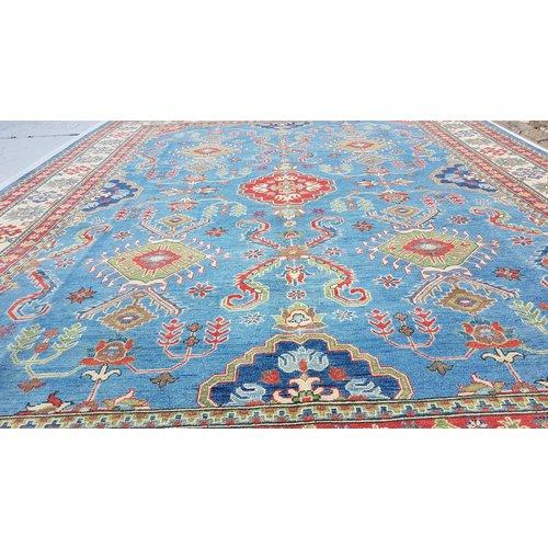 Handgeknoopt kazak tapijt 363x280 cm  oosters kleed vloerkleed