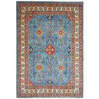 Hand knotted  11'9x 9' wool kazak area rug  363x280  cm  Oriental carpet