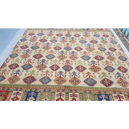Handgeknoopt kazak tapijt 357x258 cm  oosters kleed vloerkleed