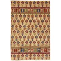 Handgeknüpft wolle kazak teppich  357x258 cm   Orientalisch teppichboden