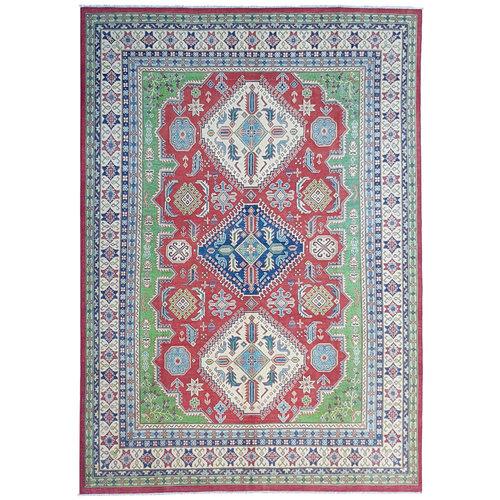 Hand knotted  11'8x 8'9 wool kazak area rug  360x274 cm  Oriental carpet