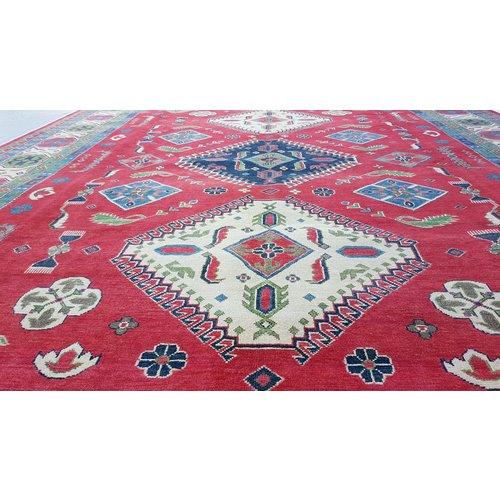 Handgeknüpft wolle kazak teppich  354x281  cm   Orientalisch teppichboden