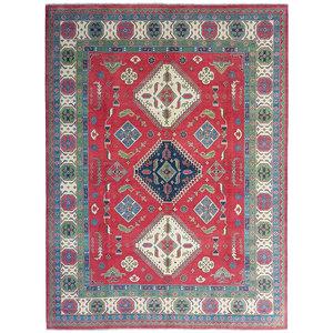 Handgeknoopt kazak tapijt 354x281 cm  oosters kleed vloerkleed