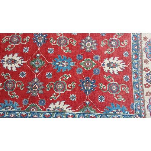 Handgeknoopt kazak tapijt 363x265 cm  oosters kleed vloerkleed