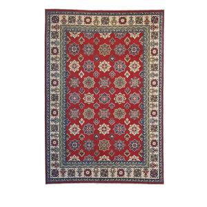 Hand knotted  9'8x6'6 wool kazak area rug  300x202 cm  Oriental carpet