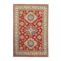 Hand knotted  9'8x6'6 wool kazak area rug  296x202 cm  Oriental carpet