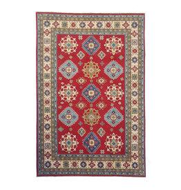ZARGAR RUGS Hand knotted  9'8x6' wool kazak area rug  296x197 cm  Oriental carpet