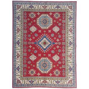 Handgeknüpft wolle kazak teppich  356x271  cm   Orientalisch teppichboden