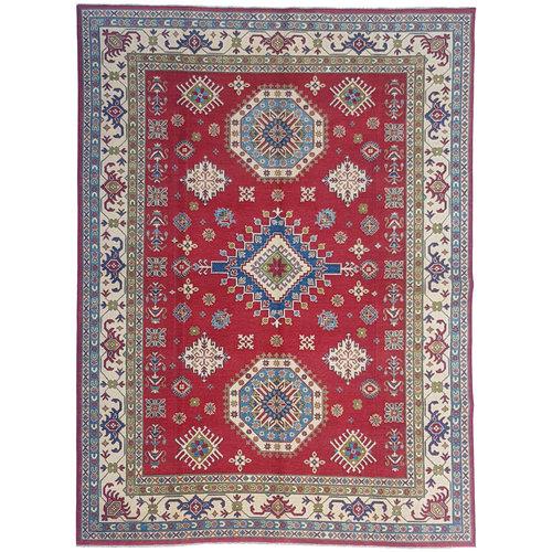 shal Hand knotted  11'6x 8'8 wool kazak area rug  356x271  cm  Oriental carpet