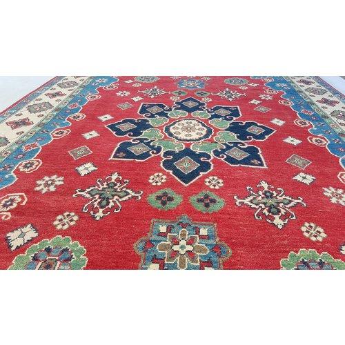 Hand knotted  10'x6'7 wool kazak area rug  306x207 cm  Oriental carpet