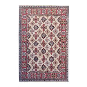 Hand knotted  9'6x6'6 wool kazak area rug  294x202 cm  Oriental carpet
