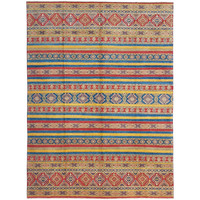 shal Hand knotted  11'9x 9' wool kazak area rug  364x276 cm  Oriental carpet