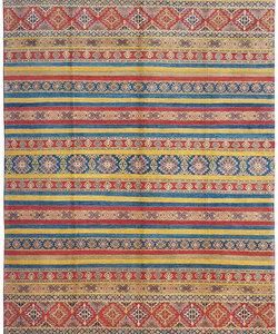Handgeknoopt kazak tapijt 364x276 cm  oosters kleed vloerkleed
