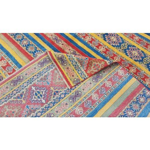 shal Hand knotted  11'9x 9' wool kazak area rug  364x276 cm  Oriental carpet