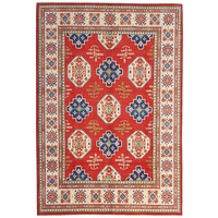 shal Hand knotted  11'9x 8'8 wool kazak area rug  365x270 cm  Oriental carpet