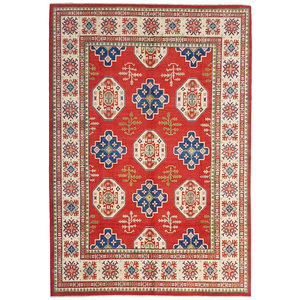 Handgeknoopt kazak tapijt 365x270 cm  oosters kleed vloerkleed