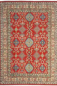 Handgeknoopt kazak tapijt 359x266 cm  oosters kleed vloerkleed