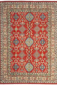 shal Hand knotted  11'7x 8'7 wool kazak area rug  359x266 cm  Oriental carpet