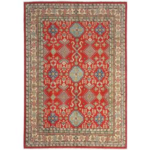 shal Hand knotted  11'7x 8'7 wool kazak area rug  359x266 cm  Oriental carpet
