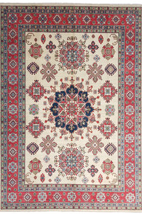 shal Hand knotted  12'x 9' wool kazak area rug  374x280 cm  Oriental carpet