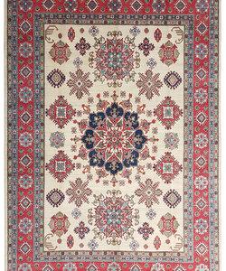 Handgeknoopt kazak tapijt 374x280 cm  oosters kleed vloerkleed