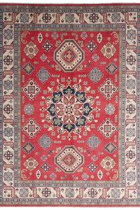 Handgeknoopt kazak tapijt 376x278 cm  oosters kleed vloerkleed