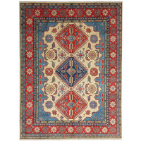 shal Hand knotted  11'8x 9' wool kazak area rug  360x278 cm  Oriental carpet