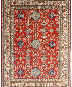 Handgeknoopt kazak tapijt 362x274 cm  oosters kleed vloerkleed