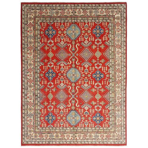 shal Hand knotted  11'8x 8'9 wool kazak area rug  362x274 cm  Oriental carpet