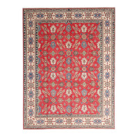 shal Hand knotted  11'8x 9' wool kazak area rug  362x282 cm  Oriental carpet