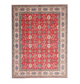 ZARGAR RUGS shal Hand knotted  11'8x 9' wool kazak area rug  362x282 cm  Oriental carpet