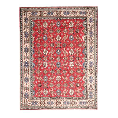 shal Hand knotted  11'8x 9' wool kazak area rug  362x282 cm  Oriental carpet