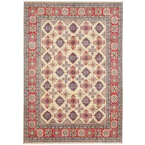 shal Hand knotted  11'8x 8'6 wool kazak area rug  361x263 cm  Oriental carpet