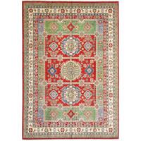 Hand knotted  11'9x 9' wool kazak area rug  363x281  cm  Oriental carpet