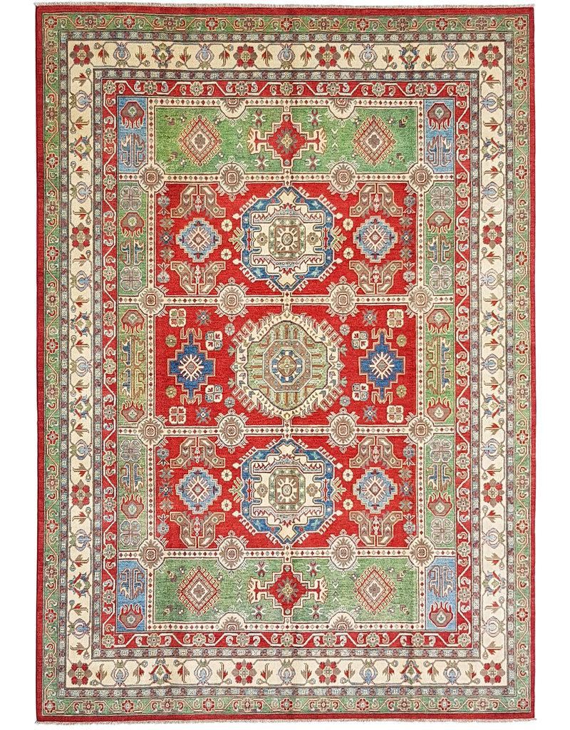 ZARGAR RUGS Hand knotted  11'9x 9' wool kazak area rug  363x281  cm  Oriental carpet