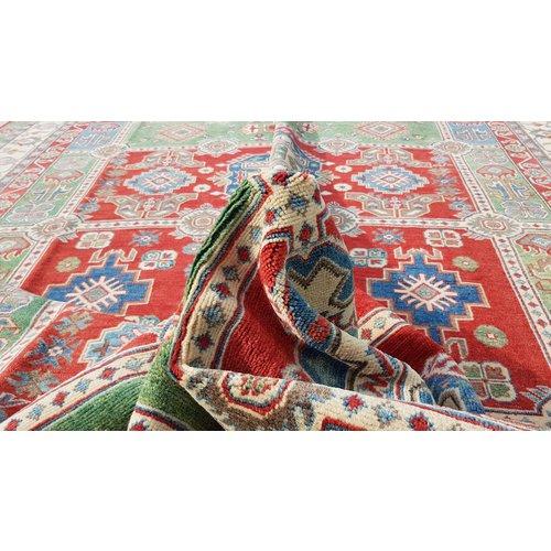Handgeknoopt kazak tapijt 363x281 cm  oosters kleed vloerkleed