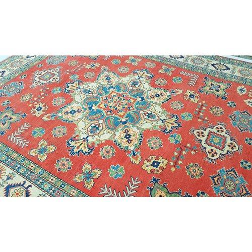 Handgeknoopt kazak tapijt 349x279 cm  oosters kleed vloerkleed