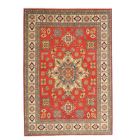 shal Hand knotted  11'4x 9' wool kazak area rug  349x279 cm  Oriental carpet