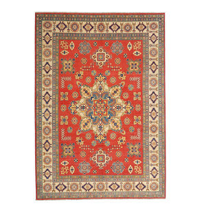 shal Hand knotted  11'4x 9' wool kazak area rug  349x279 cm  Oriental carpet