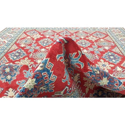 Handgeknoopt kazak tapijt 363x268 cm  oosters kleed vloerkleed